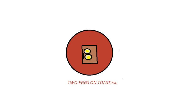 TWO EGGS ON TOAST BY RUBY J CRAFT